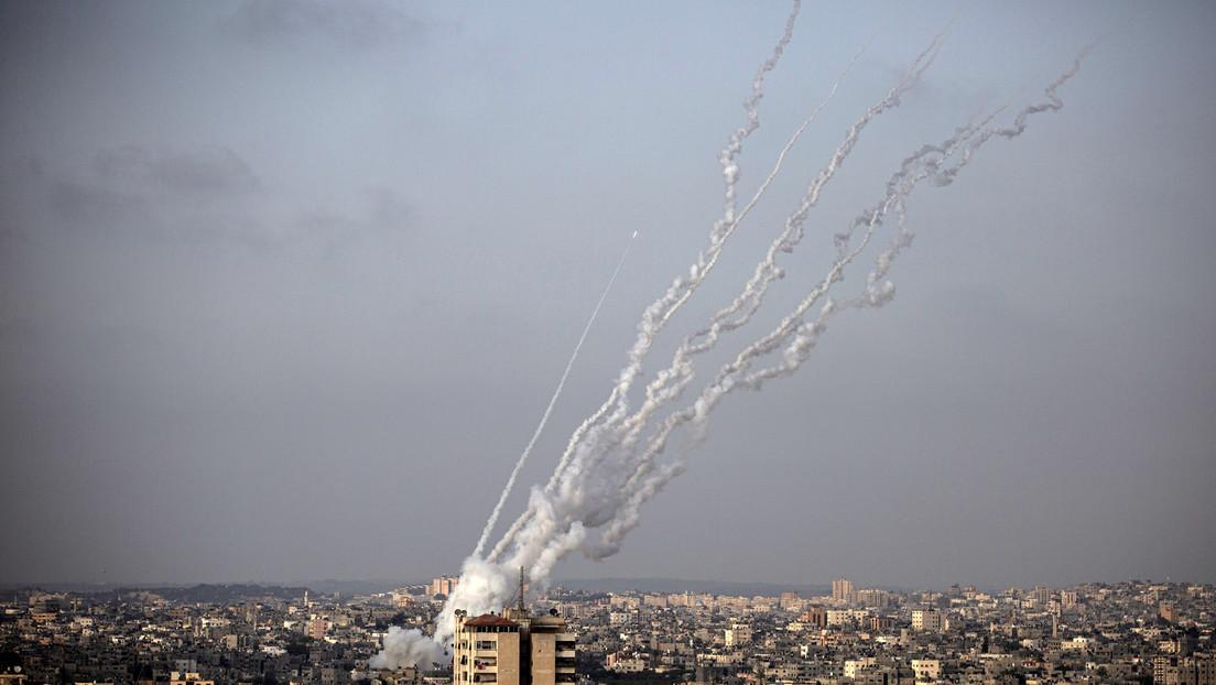 Al menos nueve palestinos muertos por ataques aéreos israelíes sobre la Franja de Gaza en respuesta al ataque con cohetes de Hamás