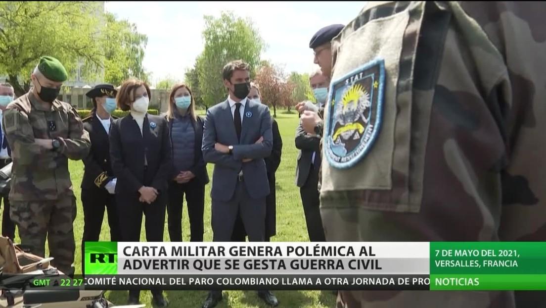 Polémica en Francia por una carta abierta escrita por militares que advierten al Gobierno de la gestación de una guerra civil