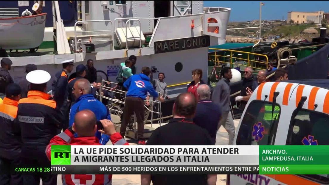 La Unión Europea pide solidaridad para atender a migrantes llegados a Italia