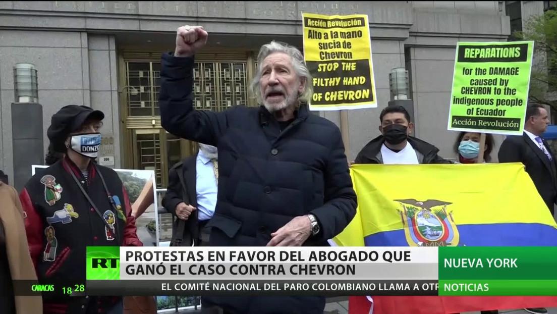 Protestas en EE.UU. en favor del abogado que ganó el caso contra Chevron