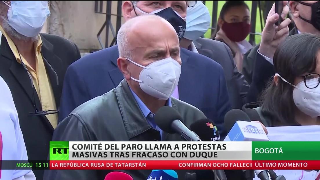 Colombia: El Comité del Paro convoca protestas masivas tras la falta de acuerdo con Duque