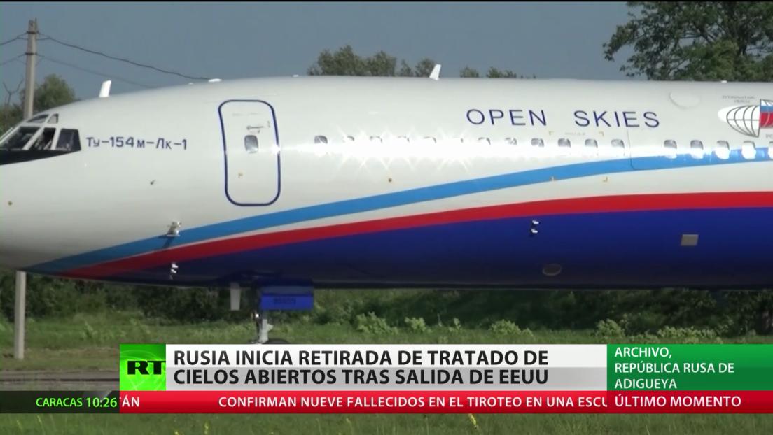 Rusia inicia su retirada del Tratado de Cielos Abiertos tras la salida unilateral de EE.UU.