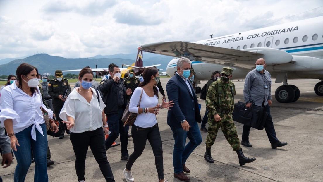 """""""Seguridad"""" y abastecimiento: las prioridades de Iván Duque en su nueva visita a Cali, epicentro de las protestas en Colombia"""