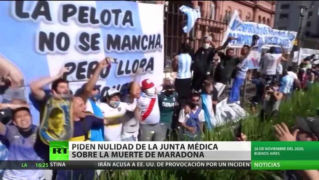 Piden la nulidad de la junta médica que realizó el informe sobre la muerte de Maradona