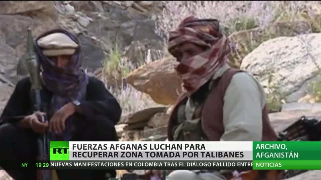 Fuerzas afganas combaten para recuperar una zona en manos de los talibanes