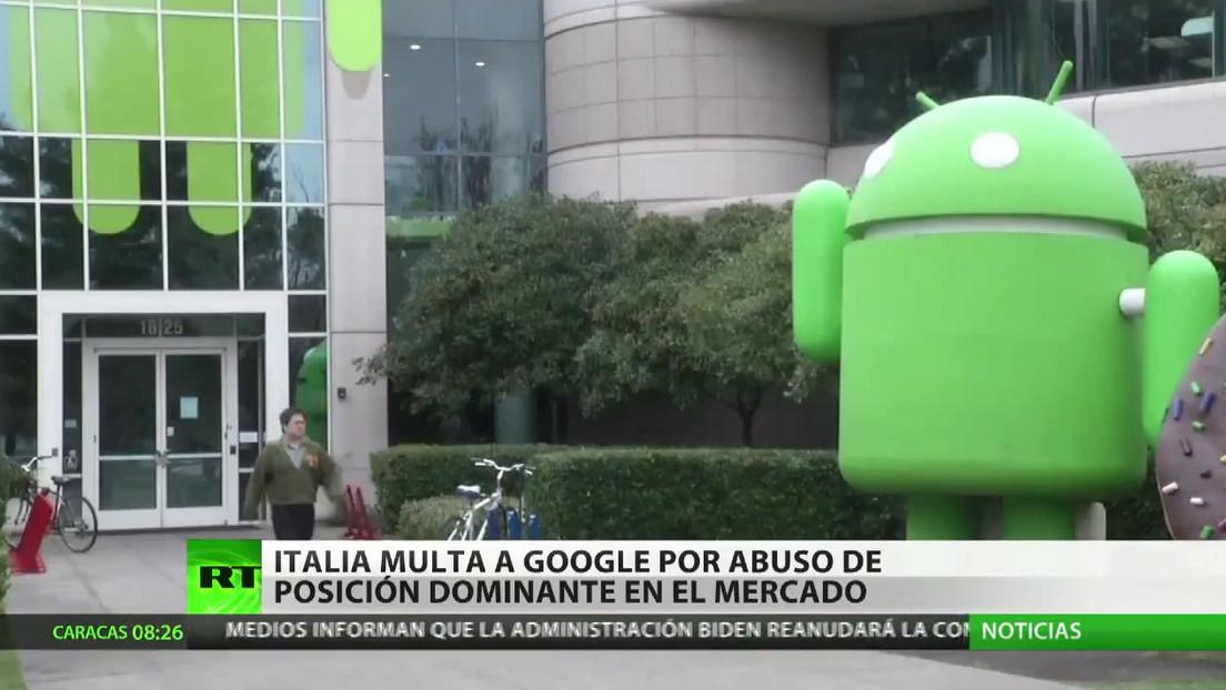 Imponen en Italia una multa multimillonaria a Google por abuso de posición dominante