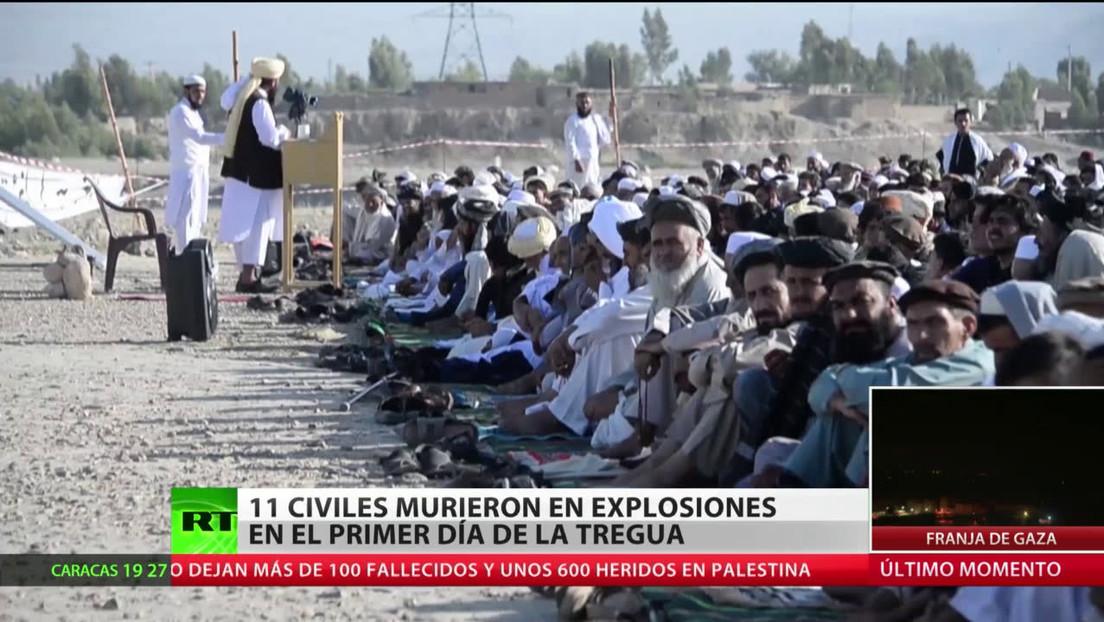 Al menos 11 civiles mueren por explosiones en Afganistán