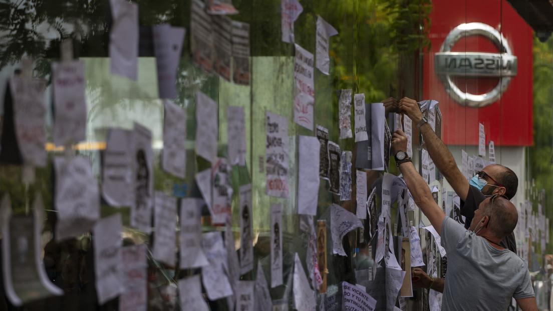 'Exigimos un futuro real': Protestas en Barcelona por el cierre de la planta de Nissan