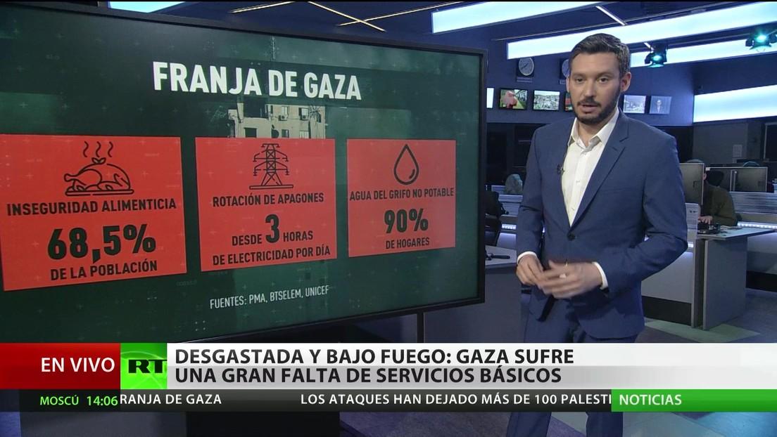 La Franja de Gaza sufre por una grave falta de servicios básicos