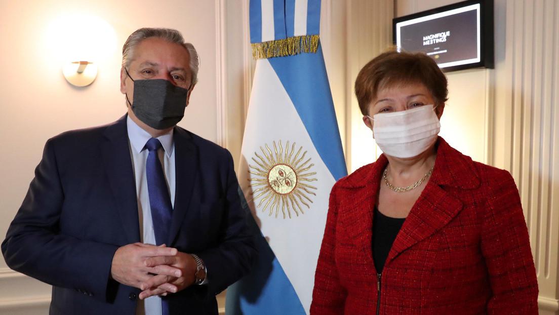 """""""Una reunión muy franca"""": Alberto Fernández se reúne con la directora del FMI para negociar la deuda de Argentina"""