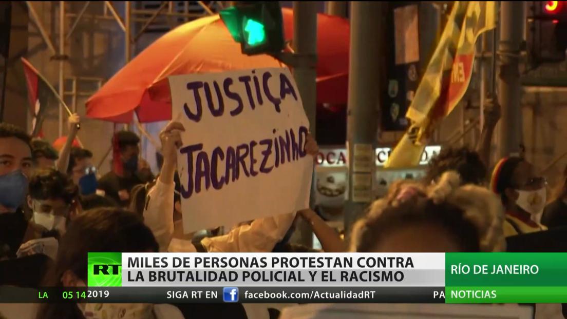 Miles de personas protestan contra la brutalidad policial y el racismo en Brasil