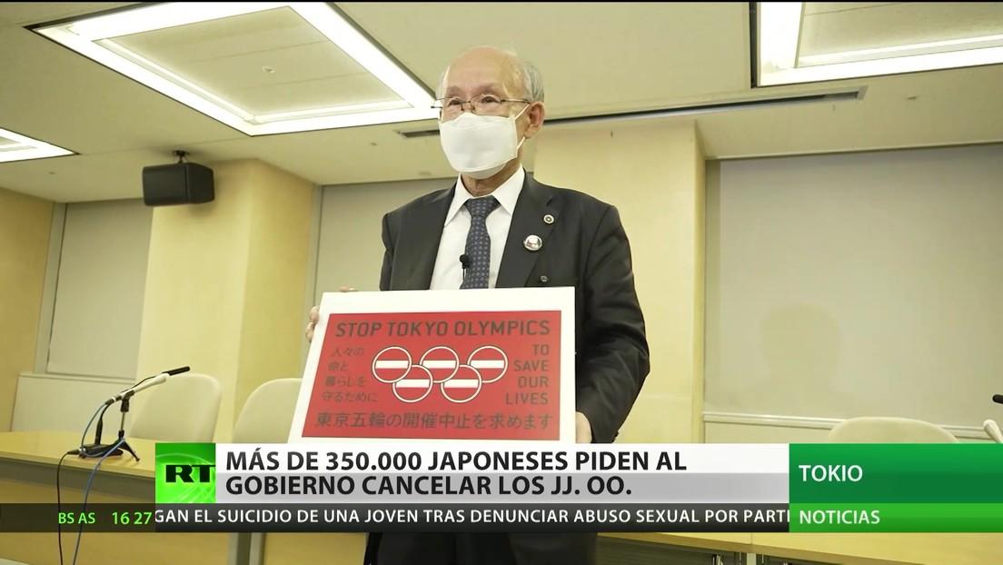 Más de 350.000 japoneses piden al Gobierno que cancele los JJ.OO.