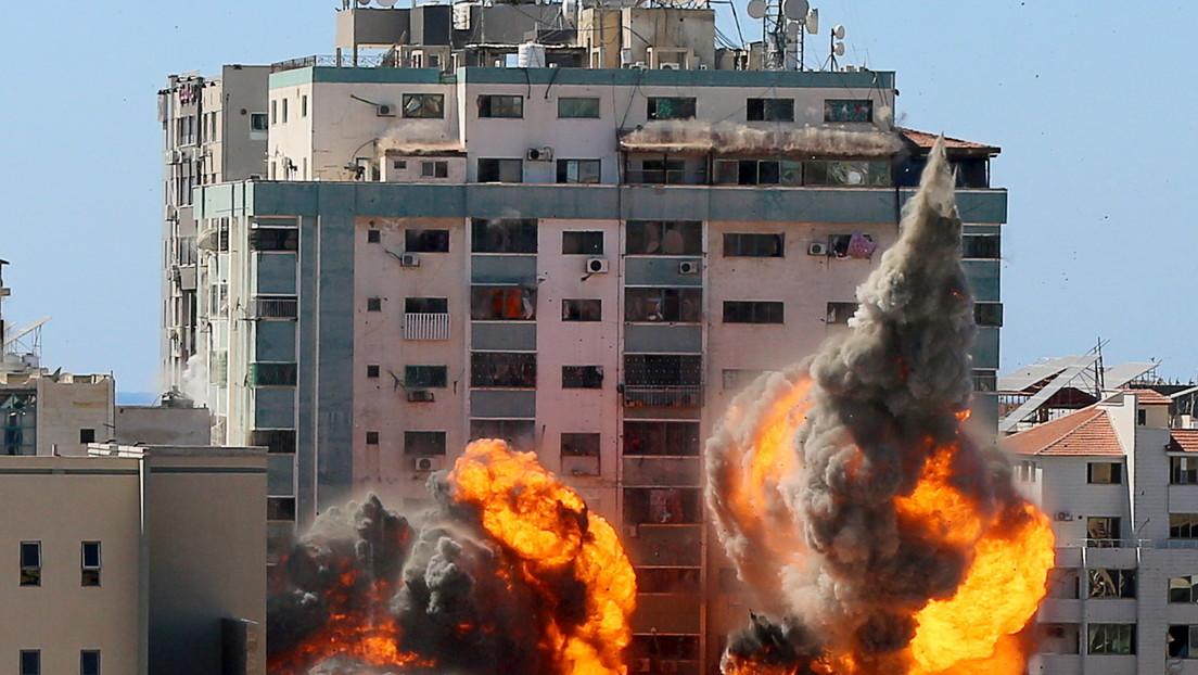 """El jefe de la ONU dice estar """"consternado"""" por las víctimas civiles ypor el derribo de un edificio con sedes de medios en Gaza"""