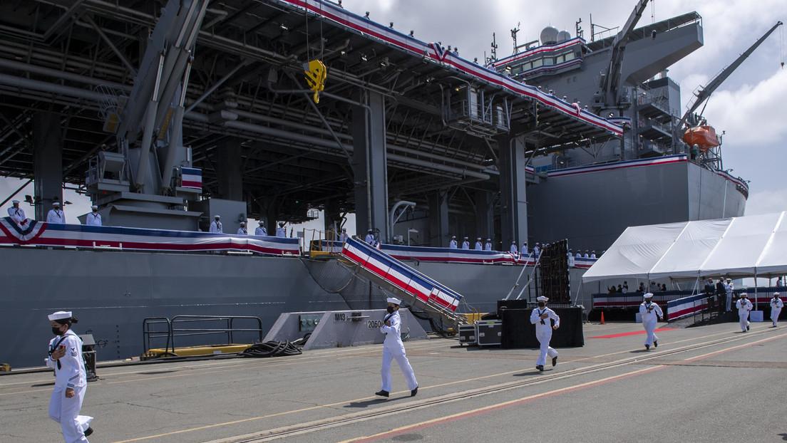 """EE.UU. pone en servicio una """"base naval flotante"""" que podría aumentar las tensiones con China"""