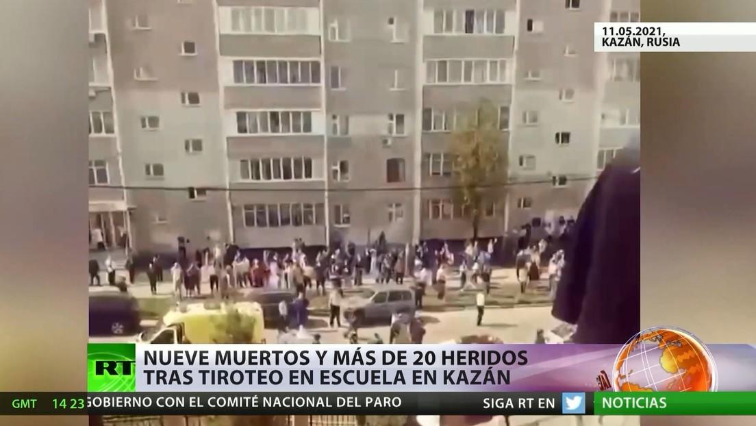 Rusia: El tiroteo en una escuela de Kazán deja 9 muertos y más de 20 heridos