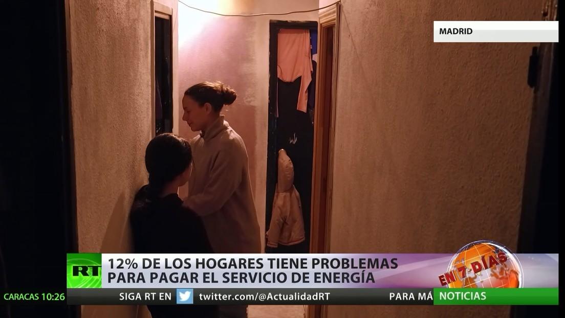 España: un 12% de hogares enfrenta problemas para pagar el servicio de energía