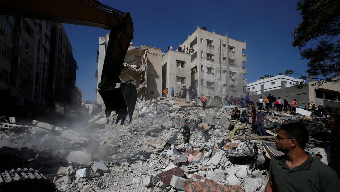 VIDEO:  Las Fuerzas de Defensa de Israel atacan un centro de inteligencia de Hamás