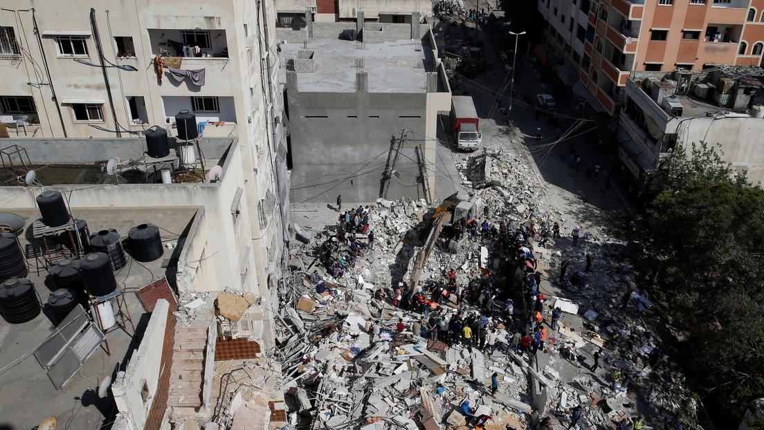 Intensos bombardeos en Gaza de la aviación israelí marcan el arranque de la segunda semana de escalada de violencia