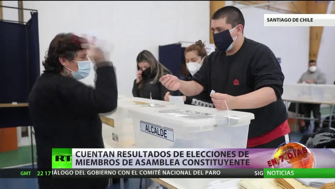Chile: Cuentan los resultados de elecciones de los miembros de la Asamblea Constituyente