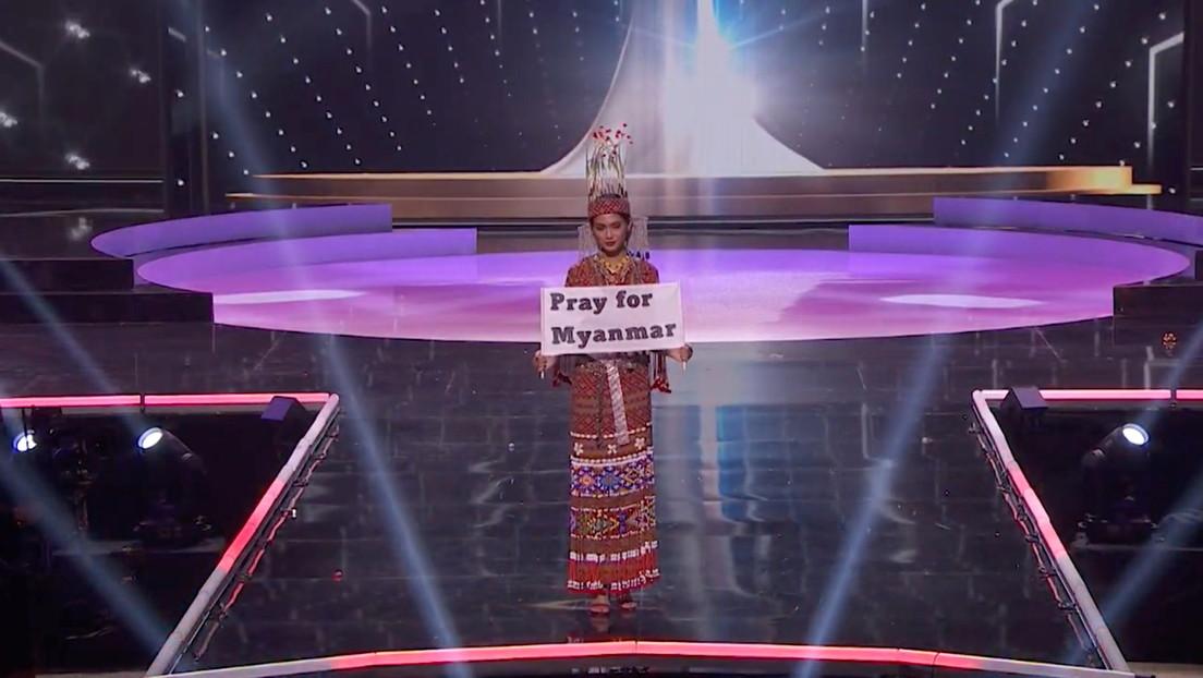 """""""Nuestro pueblo está muriendo"""": el desesperado llamado de Miss Universo Myanmar a la comunidad internacional durante la final del concurso"""