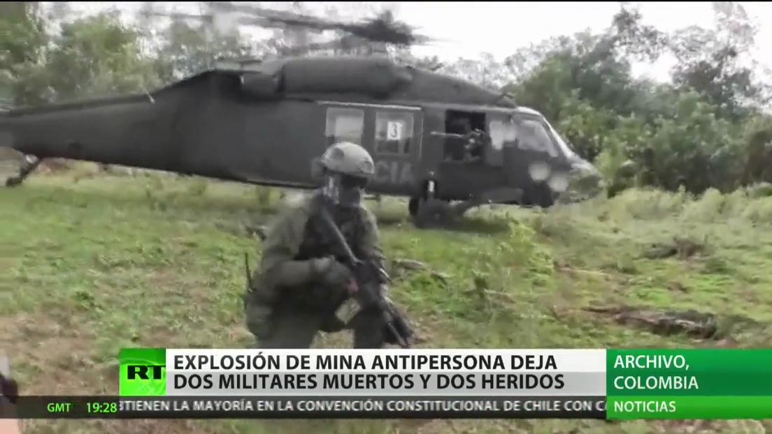 Explosión de mina antipersona en Colombia deja al menos dos militares muertos y dos heridos