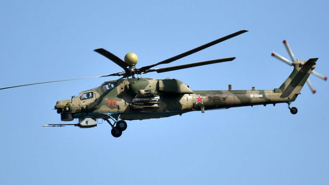El avanzado helicóptero de ataque ruso Mil Mi-28NM podrá controlar un enjambre de drones