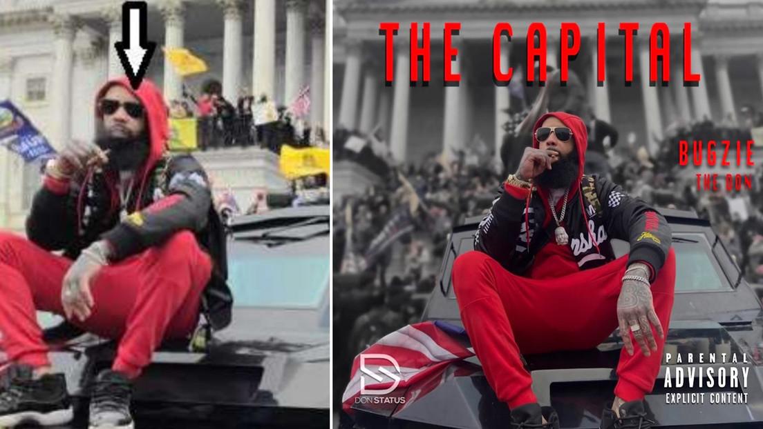 Un rapero posó sobre un vehículo policial durante el asalto al Capitolio, usó la foto en su álbum y ahora enfrenta cargos federales