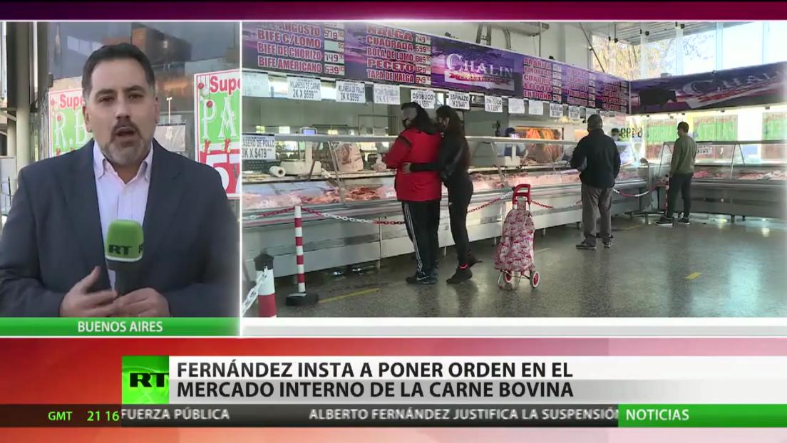 Productores de carne llaman a un paro tras el cese de exportaciones en Argentina