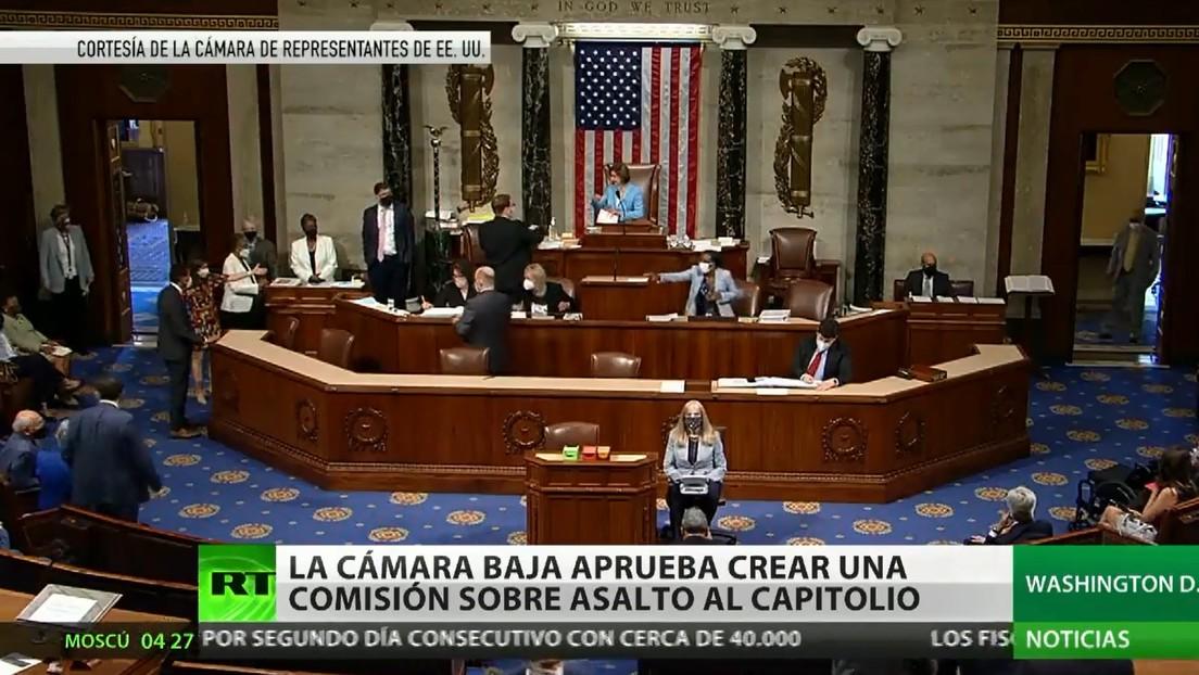 La Cámara Baja de EE.UU. aprueba crear una comisión que investigue el asalto al Capitolio