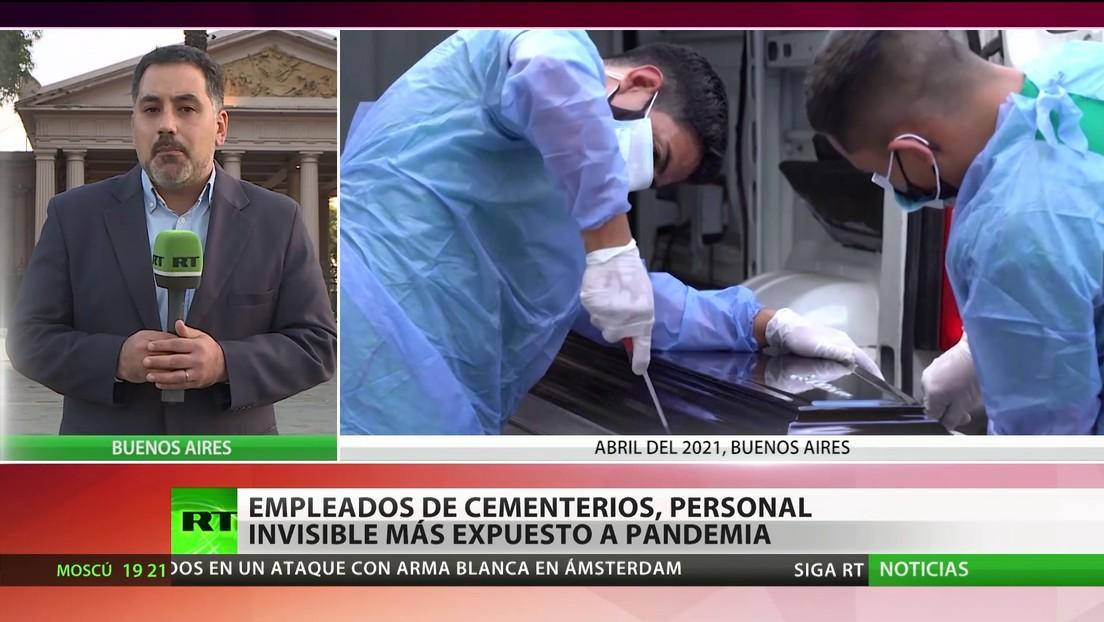 Empleados de cementerios, personal invisible más expuesto a la pandemia en Argentina