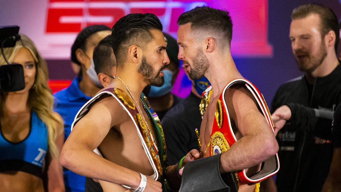 VIDEO: Los campeones invictos del peso wélter protagonizan una trifulca antes de su combate por la unificación del título
