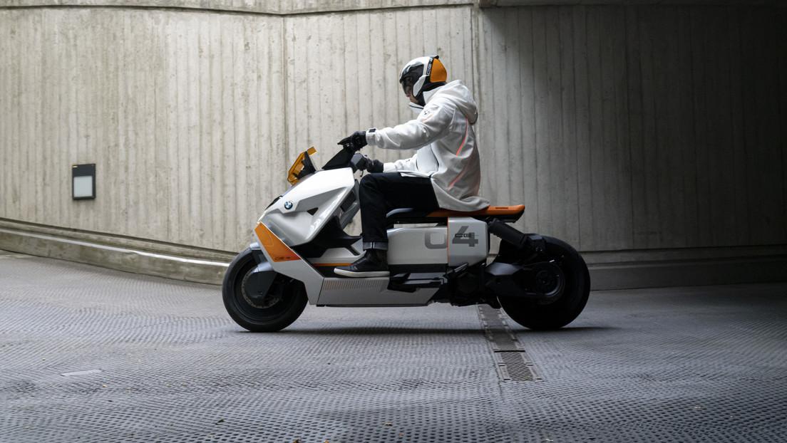 FOTOS: El prototipo del nuevo scooter futurista de BMW es visto siendo puesto a prueba en carretera