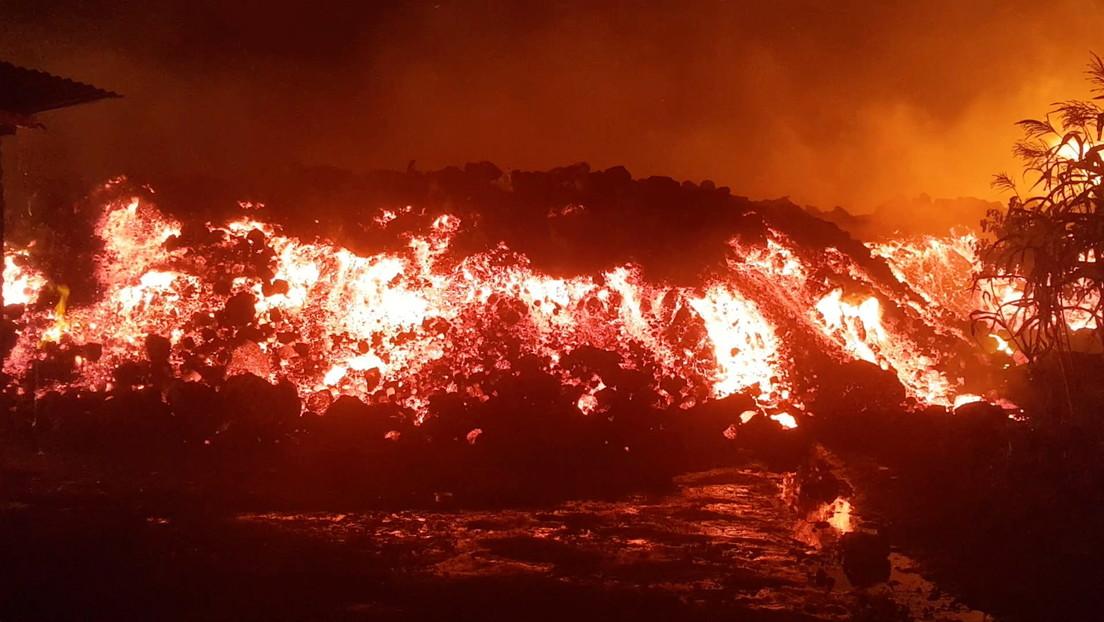 Impactantes imágenes muestran cómo flujos de lava destruyen viviendas y provocan evacuación masiva tras la erupción del volcán Nyiragongo