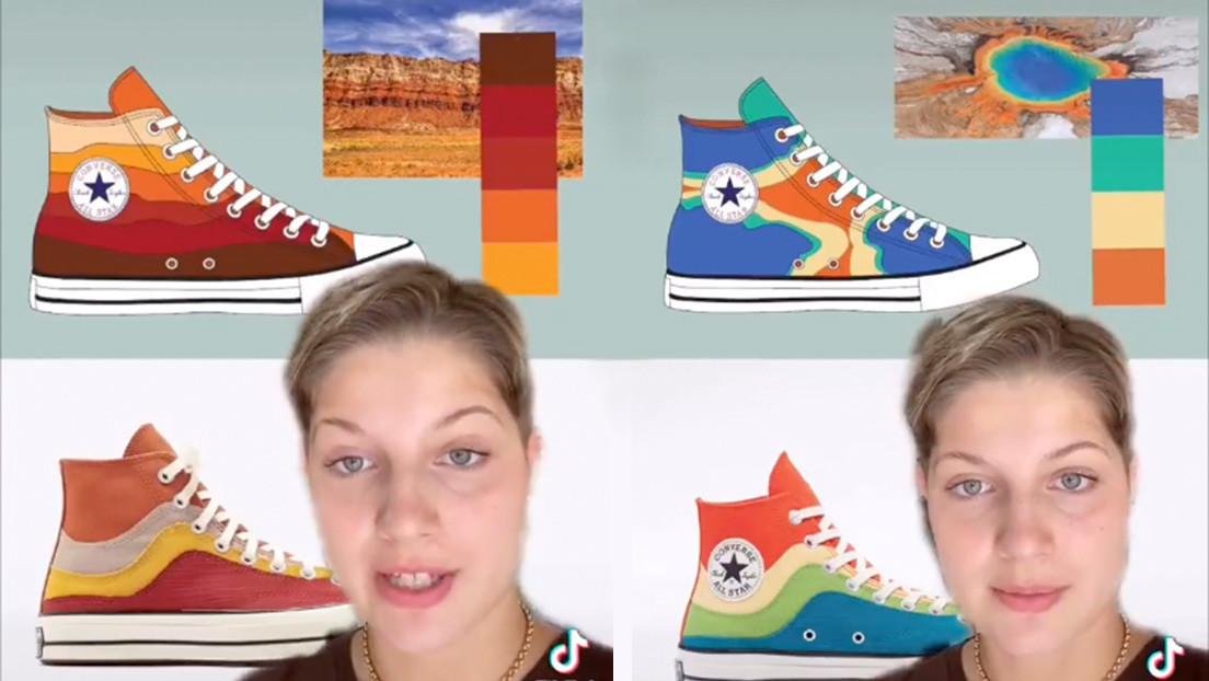 Una joven diseñadora publica un video en TikTok acusando a Converse de haberle copiado sus diseños