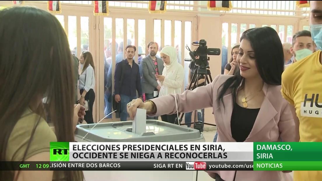 Siria celebra elecciones presidenciales al tiempo que Occidente rechaza reconocerlas