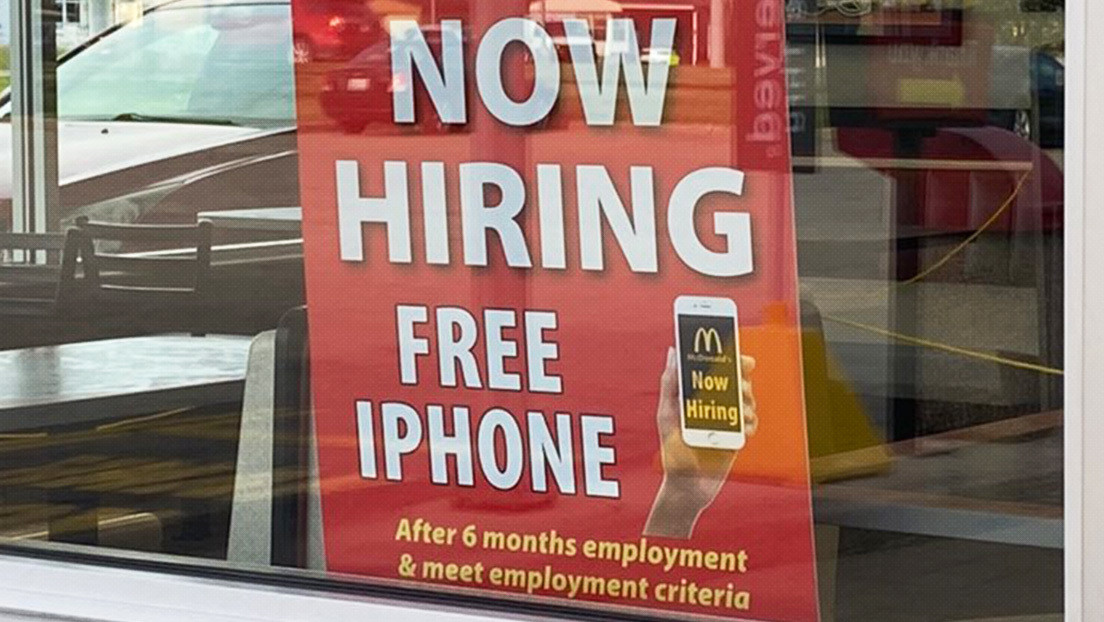 Un McDonald's de Illinois promete regalar iPhones para atraer a nuevos postulantes