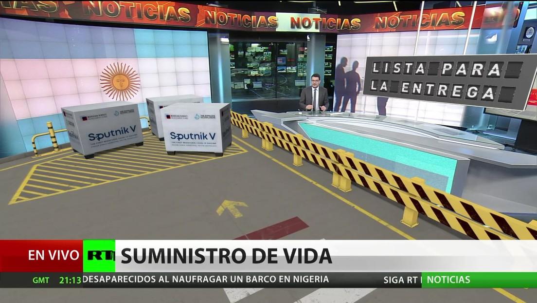 Argentina recibe el 17.º vuelo con dosis de la Sputnik V