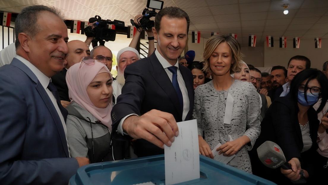 Bashar al Assad gana las elecciones presidenciales en Siria con el 95 % de los votos