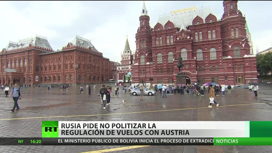 Rusia pide a Austria no politizar la regulación de vuelos