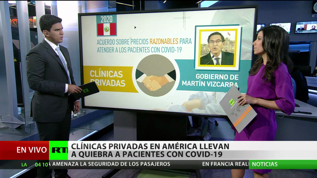 Clínicas privadas en América Latina llevan a la quiebra a pacientes con covid-19