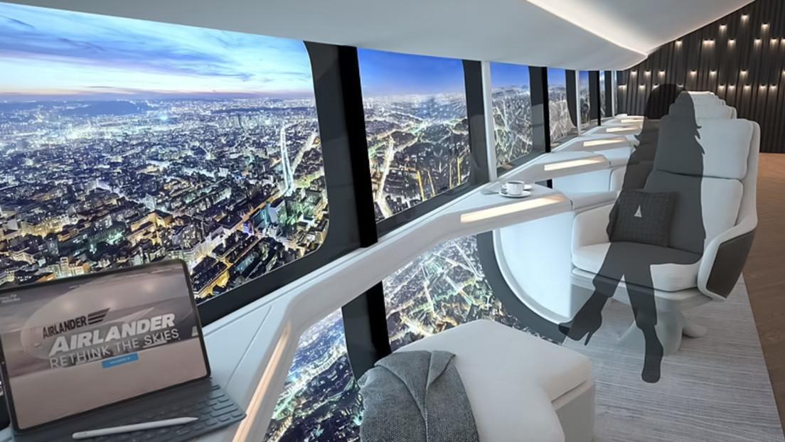 Divulgan imágenes del concepto de interior del futuro dirigible comercial Airlander 10