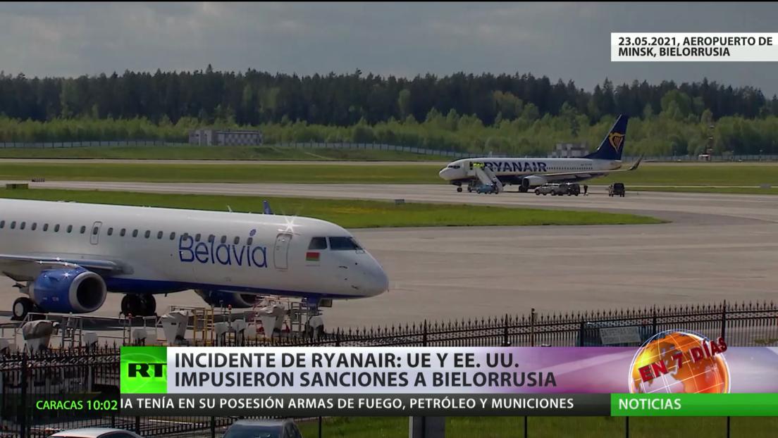 La UE y EE.UU. imponen sanciones a Bielorrusia tras el incidente de Ryanair