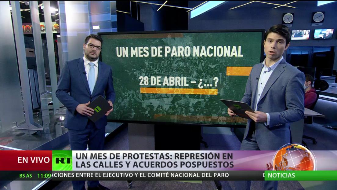 Un mes de protestas en Colombia: represión en las calles y acuerdos pospuestos