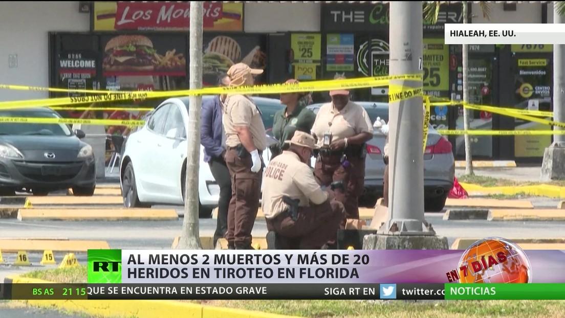 Al menos dos muertos y más de 20 heridos tras un tiroteo en Florida