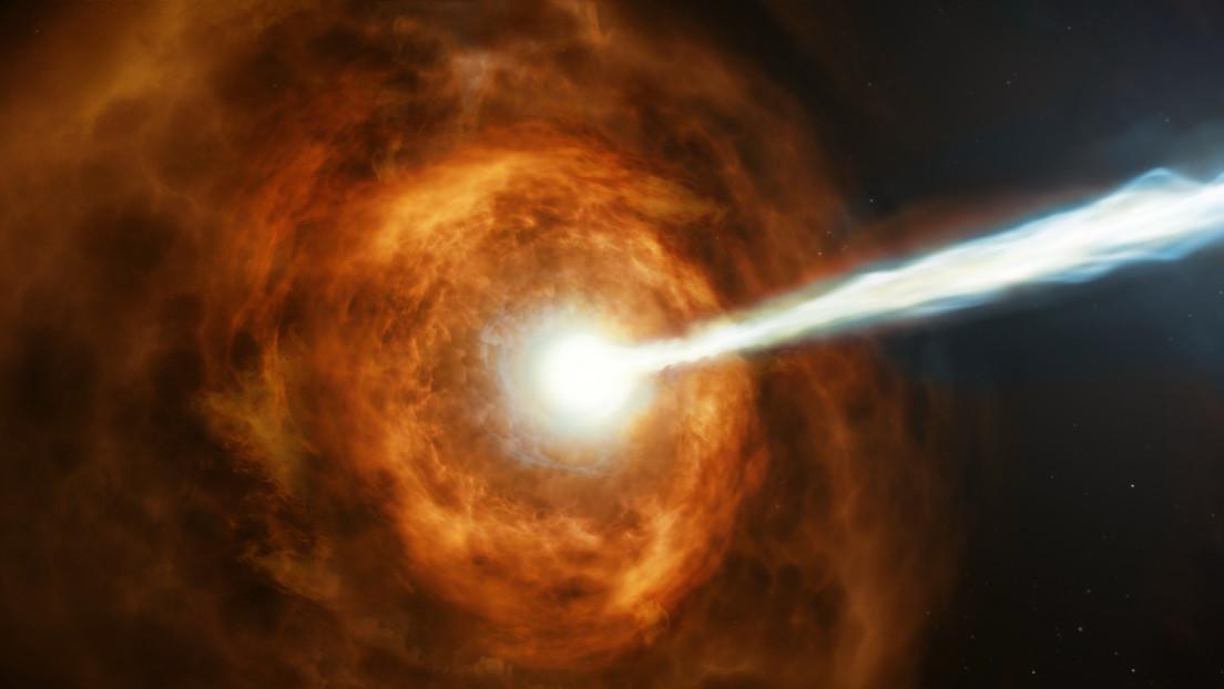 Un enorme estallido de rayos gamma sería evidencia de que se puede extraer energía de los agujeros negros