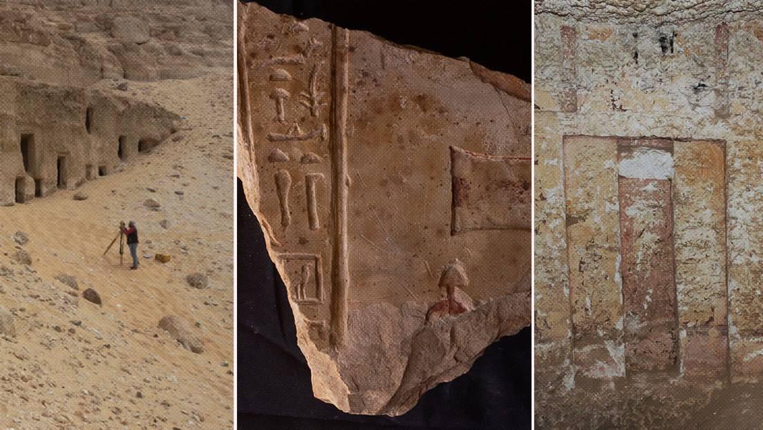 Hallazgos arqueológicos durante las excavaciones en la necrópolis de Al Hamdiya, en la provincia de Sohag, Egipto.