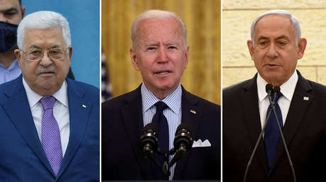 Biden realiza llamadas telefónicas al presidente palestino Abbás y al primer ministro israelí Netanyahu