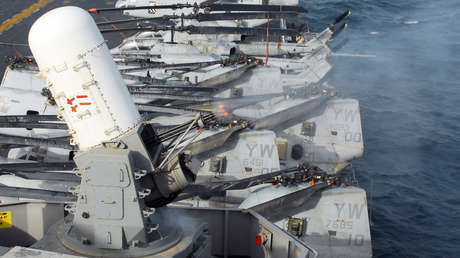 FOTO: China está probando una increíble instalación naval de 20 cañones automáticos al estilo de la ametralladora Gatling