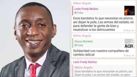 """""""Esos vándalos lo que necesitan es plomo"""": La polémica sugerencia que hizo un legislador colombiano a través de un chat del Congreso"""