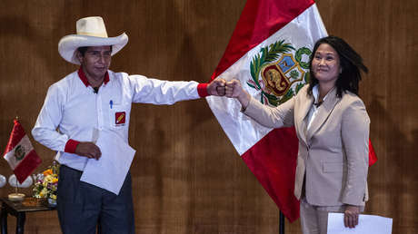 La última encuesta antes de las presidenciales en Perú arroja un empate técnico entre Castillo y Fujimori